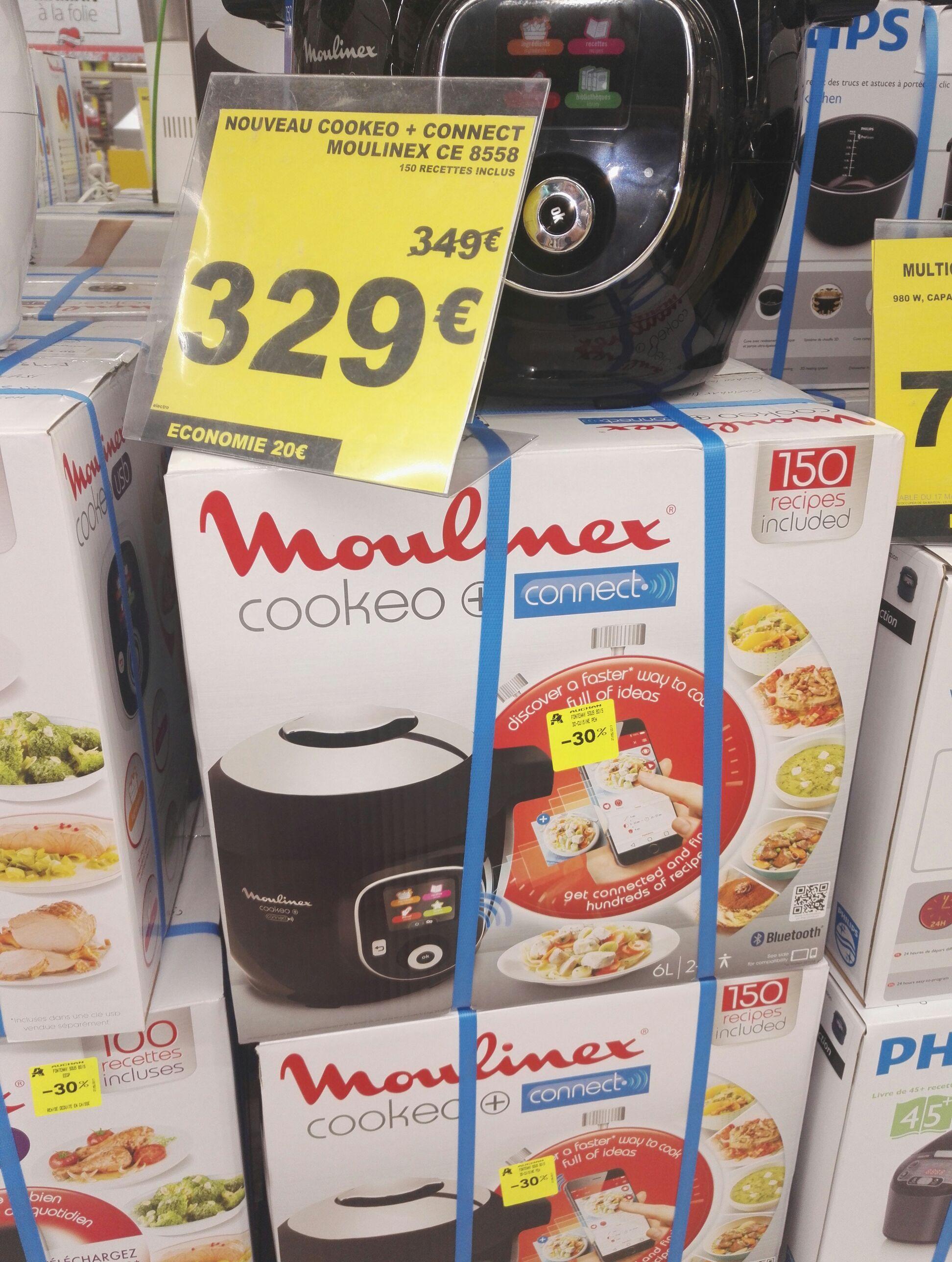 Multicuiseur intelligent Moulinex Cookeo + Connect (YY2942FB) 6 L, 1600 W avec 150 recettes
