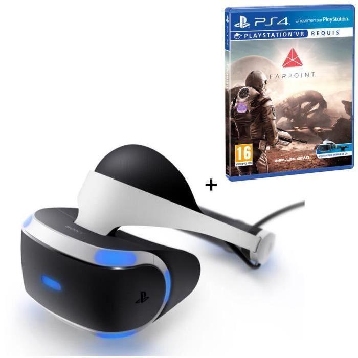 [Cdiscount à volonté] Casque de réalité virtuelle PlayStation VR + Farpoint sur PS4
