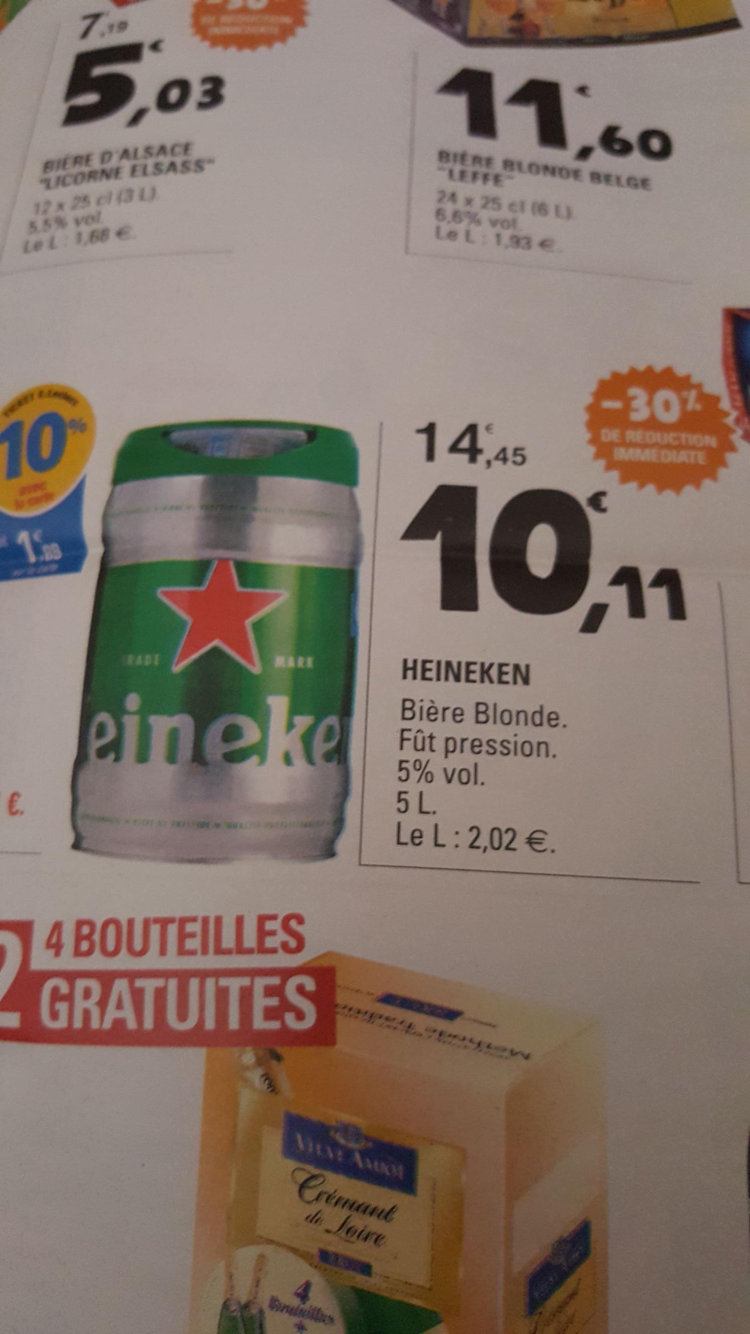 Fût de bière Heineken - 5L