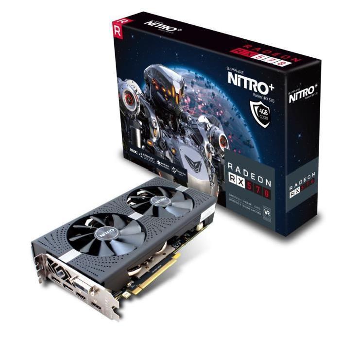 [Cdiscount à volonté] Carte graphique Sapphire Radeon RX 570 Nitro+ - 4 Go DDR5