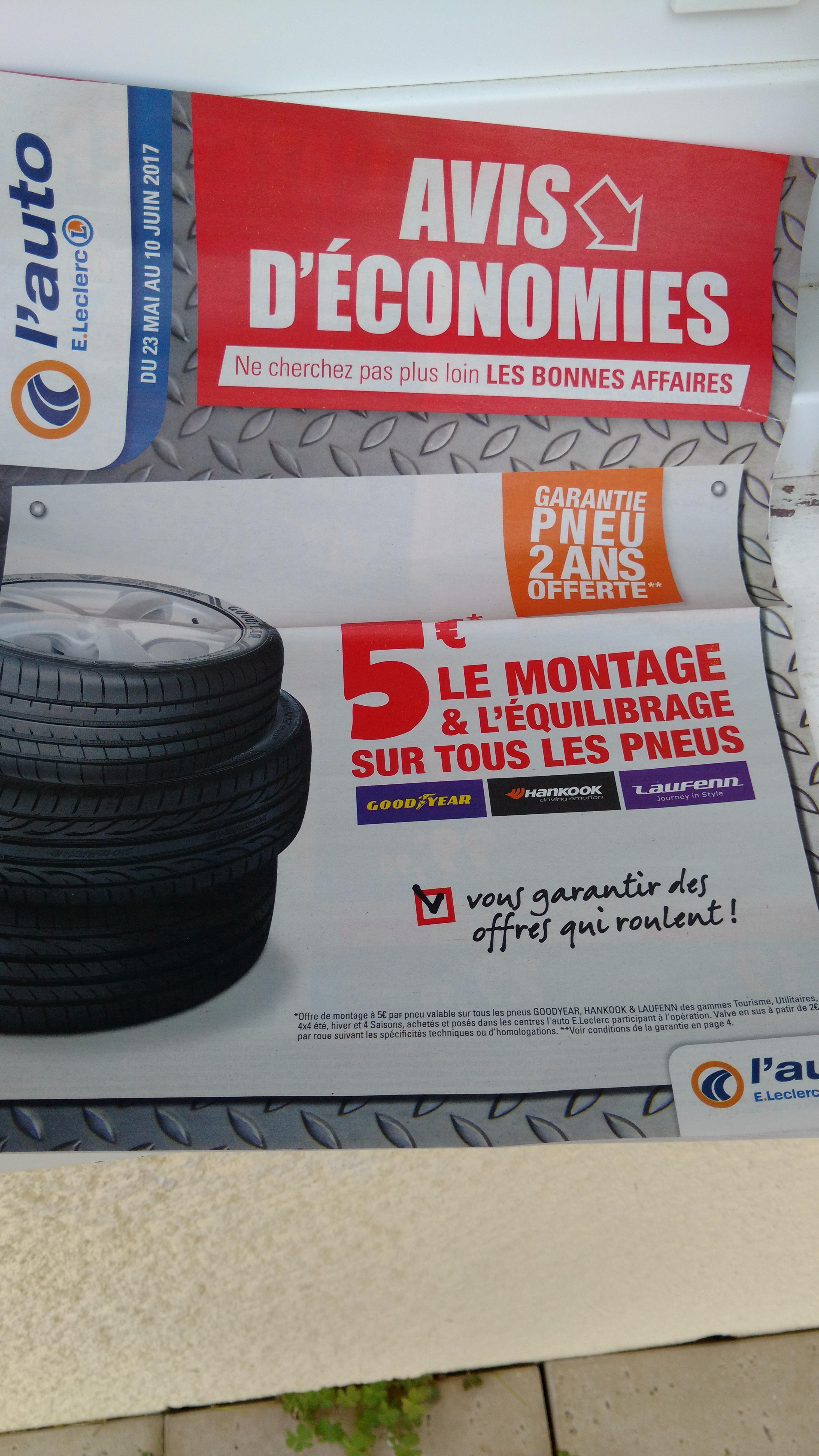 Montage et équilibrage des pneus pour l'achat de pneus (parmi une sélection de marques)