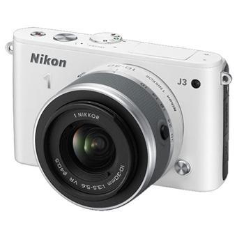 Appareil photo Nikon 1 J3 Blanc Laqué + Obj. 1 Nikkor 10-30 MM (Avec ODR 50€)
