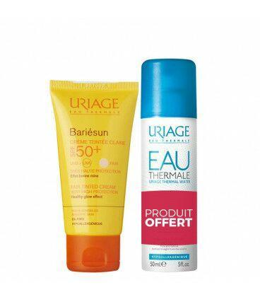 Sélection d'articles Uriage en promotion - Ex : Uriage Bariésun Crème Teintée SPF50 + Eau Thermale 50ml