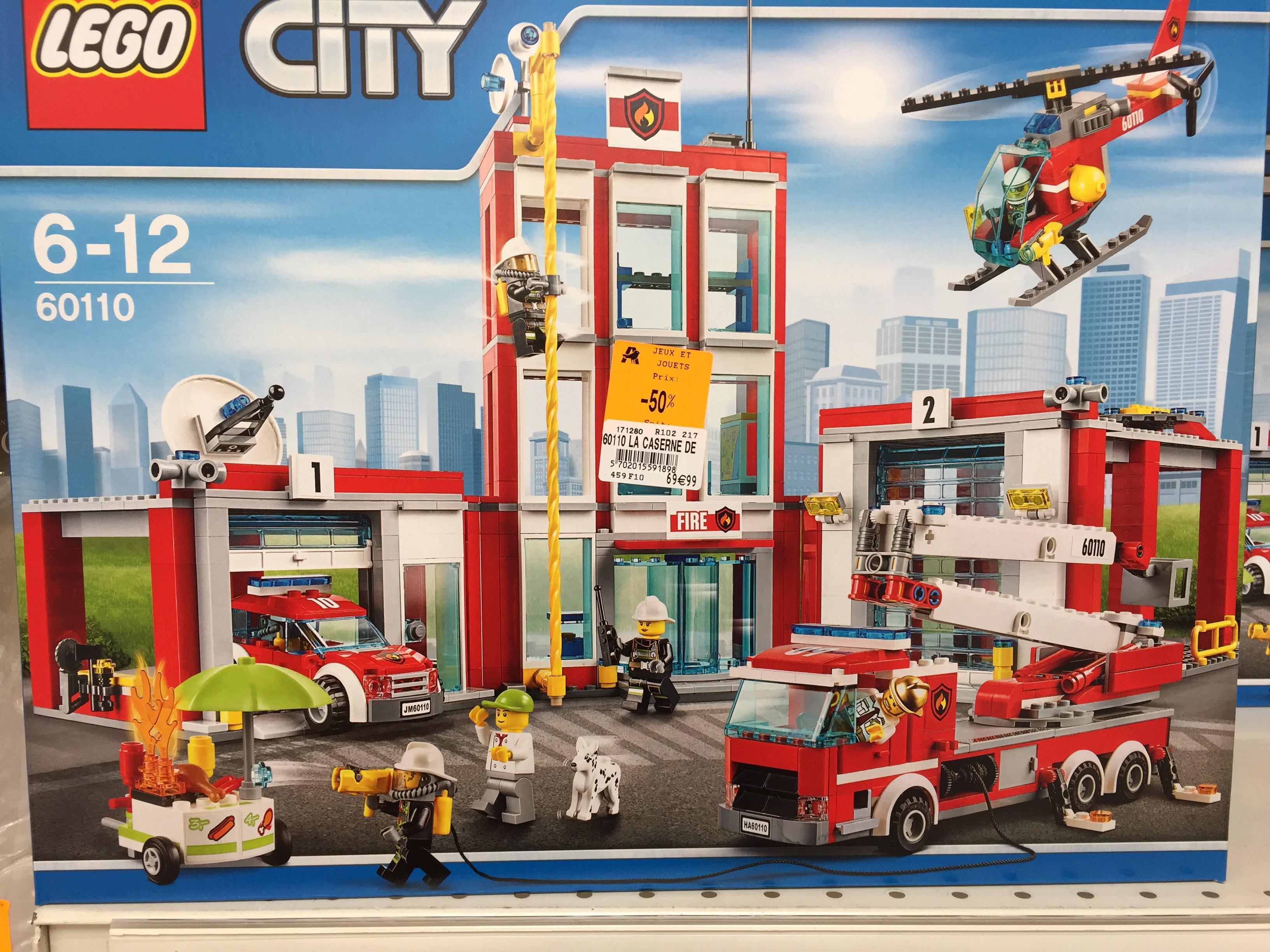 Caserne des pompiers Lego City 60110