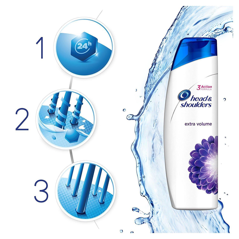 Selection de shampooings Head & Shoulders en promotion - Ex : Lot de 3 Shampooings Antipelliculaire Extra Volume 280 ml