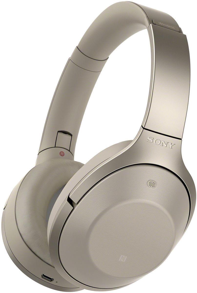 Casque Hi-Res sans fil Bluetooth Sony MDR-1000X à réduction de bruit - Champagne