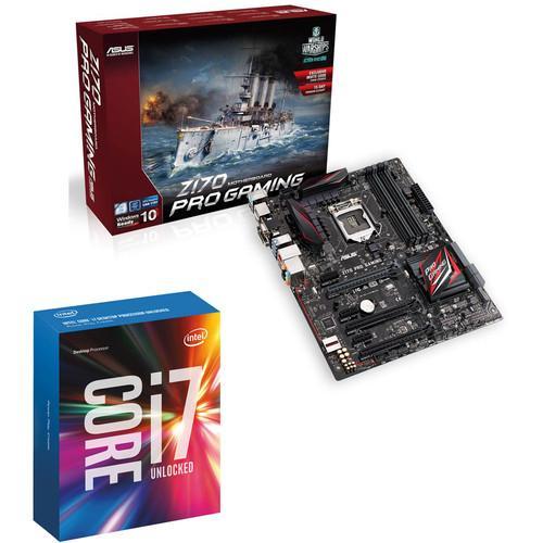 Processeur Intel Core i7-6700K (4.0 GHz) + Carte mère Asus Z170-PRO Gaming (avec ODR de 130€)