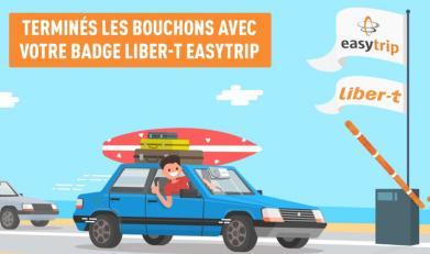 Badge Télépéage Liber-t Easytrip - Easy Pass ou Easy Driver incluant l'activation (Hors abonnement mensuel)