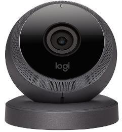 Caméra Portable de Surveillance Logitech HD Circle Noir - Wi-Fi