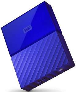 "Disque dur externe 2.5"" USB 3.0 Western Digital My Passport Bleu - 4 To"