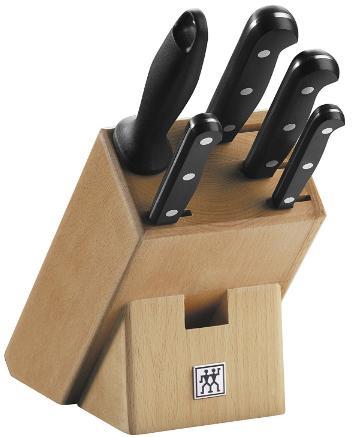 Selection de Blocs Couteaux Zwillings en Promotion - Ex: Twin Gourmet (6 Pièces - Bloc + 4 Couteaux + Fusil)