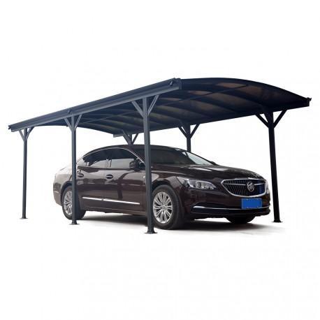 Carport en Aluminium 5.05m x 3m avec polycarbonate teinté
