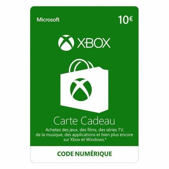 5€ de crédit Xbox Live offert pour l'achat d'un produit Microsoft Dématérialisé - Ex :  Carte Cadeau Xbox Live de 10€ + 5€ Offert (Code Numérique)
