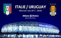 30% de réduction sur les places du match Italie - Uruguay à Nice le 7 Juin