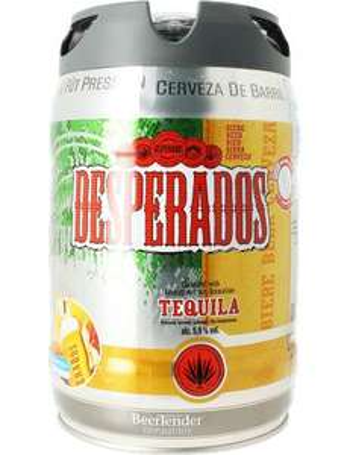 Fût de bière blonde aromatisée Desperados Beertender - 5 L