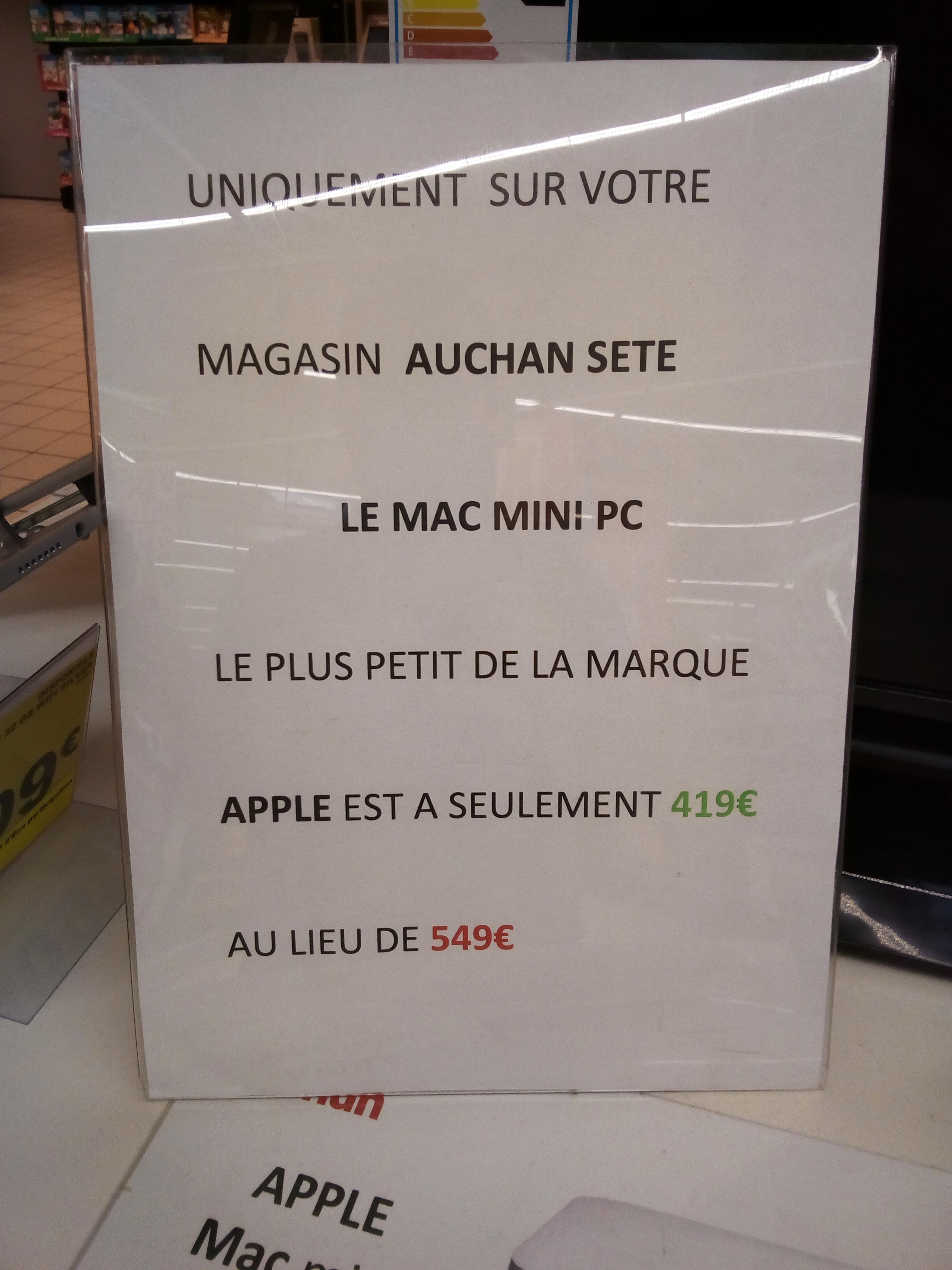 Mini PC Apple Mac Mini MGEM2F/A - i5 14Ghz, 4 Go de Ram, 500 Go
