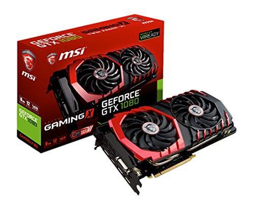 Carte graphique MSI GeForce GTX 1080 Gaming X - 8 Go (via ODR de 50€)