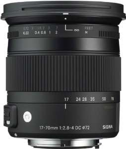 Objectif Sigma 17-70 F2,8-4 DC Macro OS HSM Comtemporary pour Canon