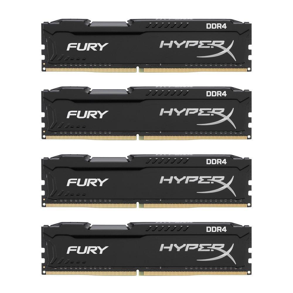Kit Mémoire HyperX Fury DDR4 HX424C15FB2K4/32 - 32Go (4x8 Go), 2400 Mhz CL15