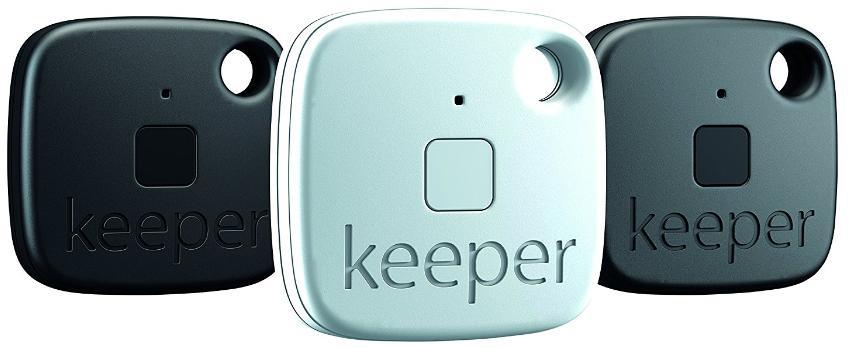 Lot de 3 Portes-clés Connectés Sans-fil Gigaset Keeper avec Alertes Sonores et Lumineuses - Bluetooth 4.0