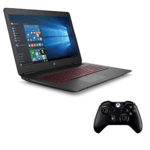 "PC Portable 17.3"" HP Omen 17-w213nf - Full HD IPS, i7-7700HQ, RAM 8 Go, HDD 1 To, GTX 1060 6 Go, Windows 10 + Manette Xbox One"