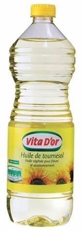 Bouteille d'huile de tournesol Vita d'Or - 1L