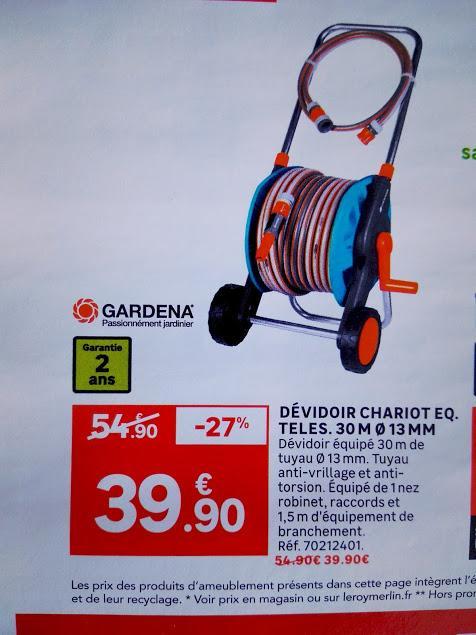 Dévidoir Gardena équipé - 30 m
