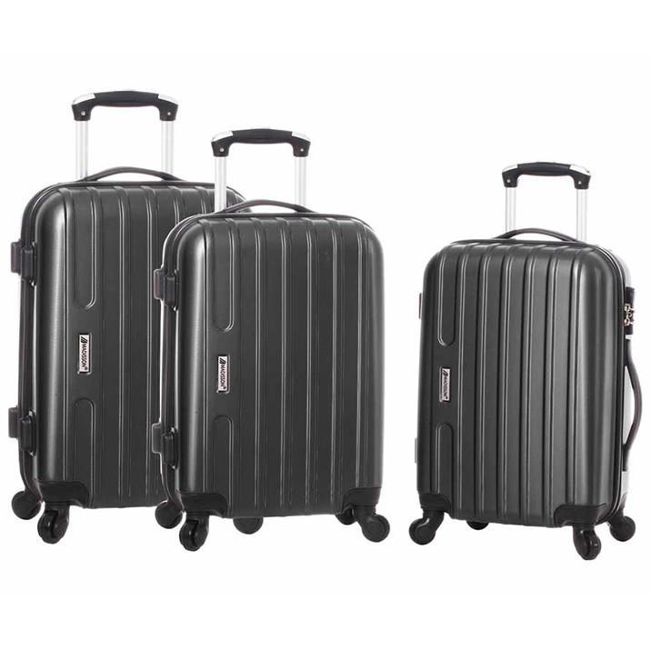 Lot de 3 valises rigides à 4 roues Madisson Tokyo - 48, 59 et 69 cm, différents coloris