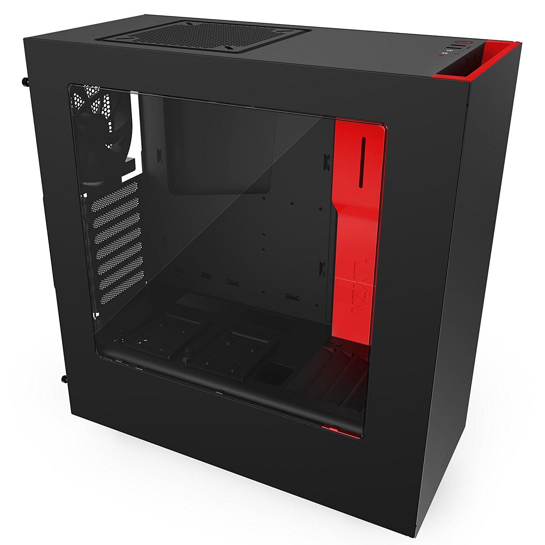 Boitier PC Gamer NZXT S340 (Format Moyen Tour) - Noir et rouge (via application mobile)