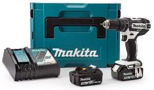 Perceuse-visseusse à percussion Sans-fil Makita DHP482Z - 18V + Coffret Makpac + Chargeur DC18RC + 2 Batteries  Li-ion BL1830 + Crochet