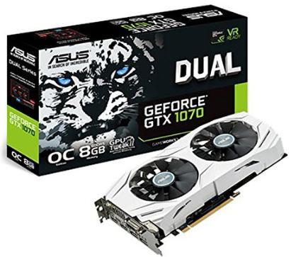 Carte Graphique Asus GeForce GTX 1070 DUAL-GTX1070-O8G - 8 Go
