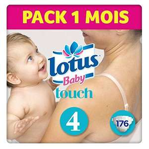 Sélection de produits Lotus Baby en Promotion - Ex:  Lot de 176 Couches Touch (Taille 4) + 77.52€ en Bons d'achats Magasin (Via ODR 100% Remboursés en 2 Bons)