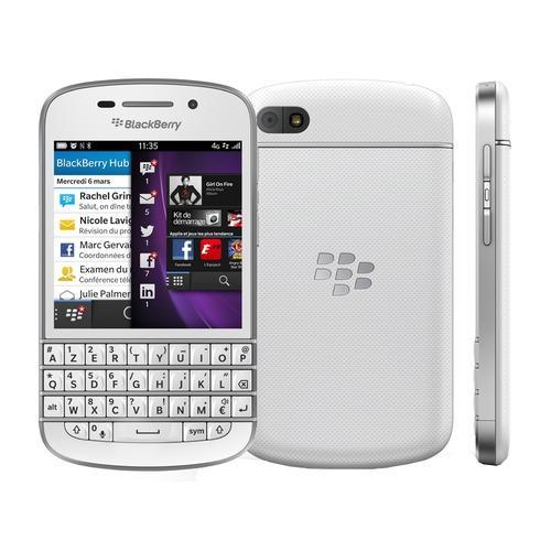 "Smartphone 3,1"" Blackberry Q10 Blanc - 4G"