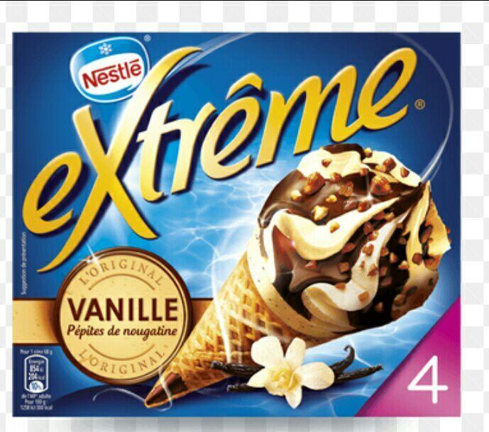 Sélection de glaces en promotion - Ex : lot de 2 paquets extreme gratuit