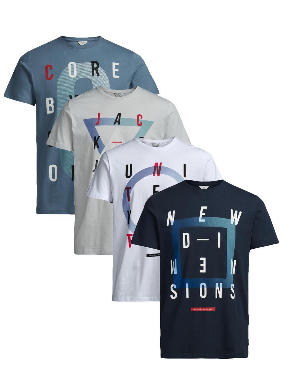 Lots de 4 Tee-Shirts Jack&Jones - Plusieurs modèles partir de