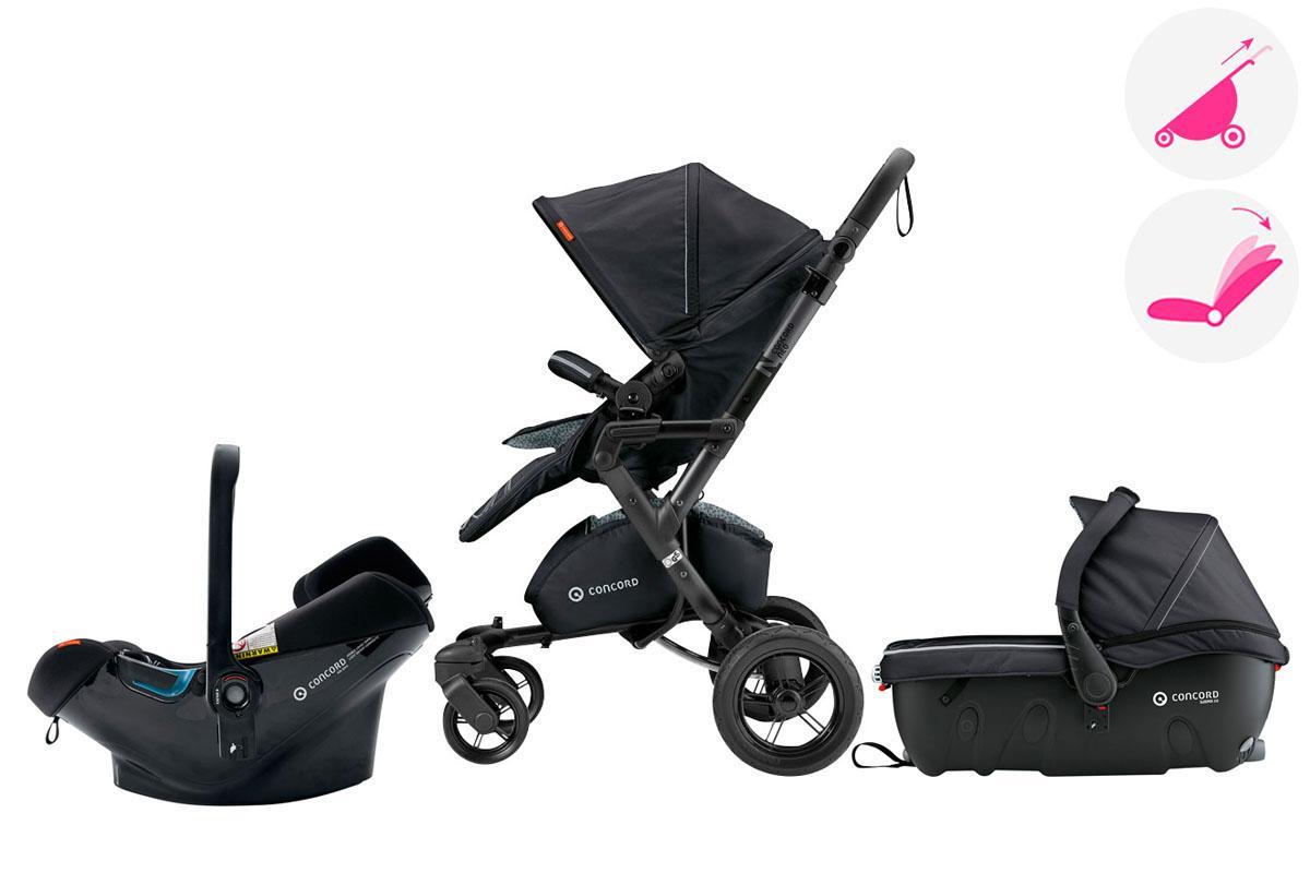 Poussette trio Neo Travel set Concord + accessoires