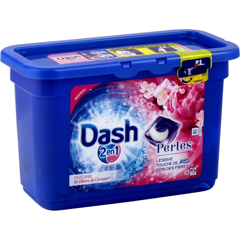 Boite de lessive Dash Pearl 2en1 - 19 lavages (via ODR + BDR)