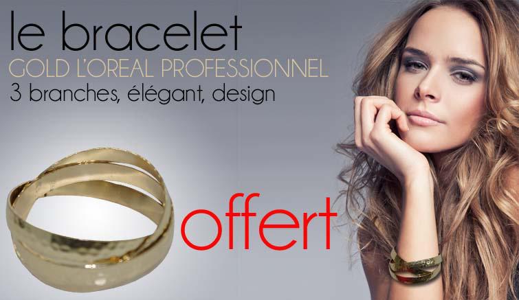 Sachet de 50 elastics + Bracelet 3 branches Gold / livraison gratuite