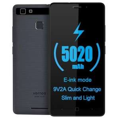 "Smartphone 5.0"" Vernee Thor E Gris - HD, MTK6753, RAM 3 Go, ROM 16 Go, Batterie 5020 mAh (B20 incluse)"