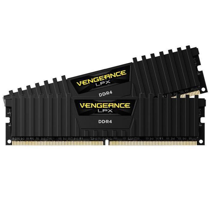 Kit mémoire RAM DDR4 Corsair Vengeance LPX - 16 Go (2 x 8Go),  3000Mhz, CL15