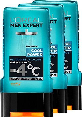 [Premium] Sélection de produits L'Oréal Men Expert en promotion - Ex : Lot de 3 Gels Douches Homme Cool Power Fraicheur Extrême 300 ml