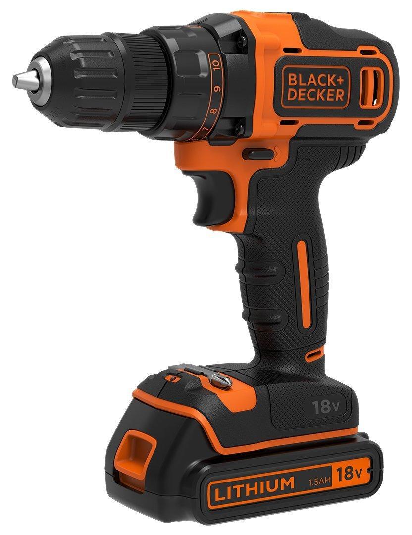 Perceuse-visseuse  sans fil Black & Decker BDCDD186KB-QW - 18V avec chargeur/2 batteries 1,5 Ah + coffret/accessoires (via ODR de 50€)