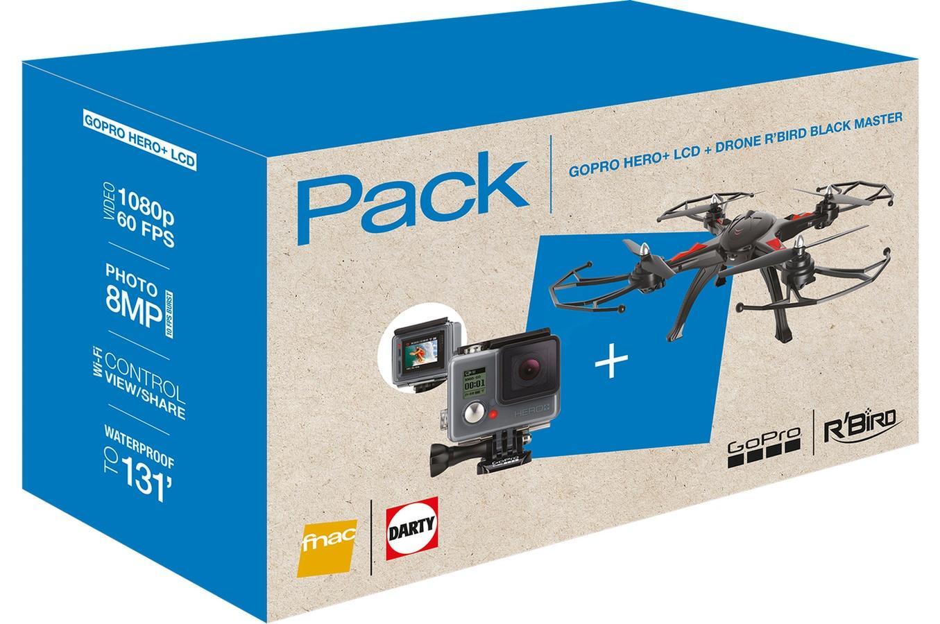 Drone R'Bird DMS240 Black Master + Caméra Gopro Hero+ LCD