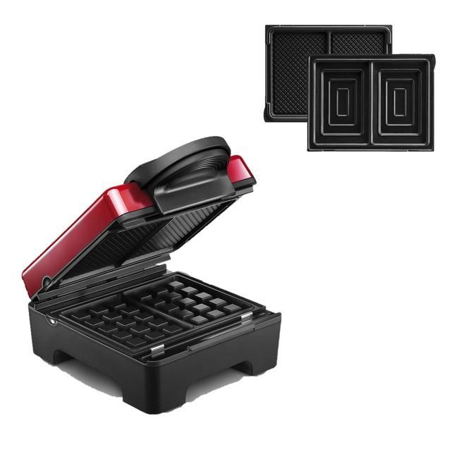 Tarti'gaufres Lagrange  + plaque croque-monsieur 029412 rouge / noir 1070 W