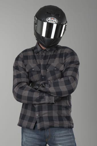 Chemise ou sweat kevlar moto avec protections coudes/épaules