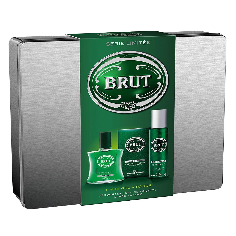 Coffret Cadeau Brut Homme : Eau de toilette + Après rasage + Déodorant