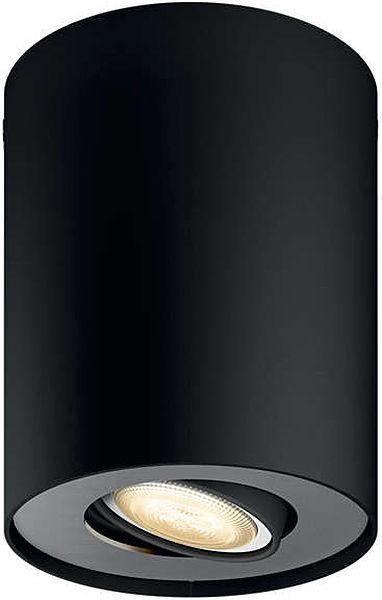 Luminaire télécommandé Pillar Spot Philips Hue + Télécommande variateur de lumière - Noir ou Blanc