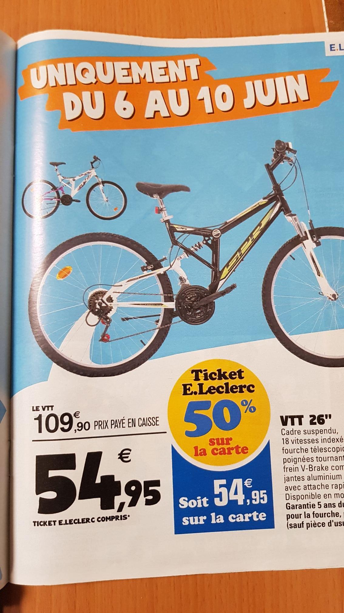"""VTT 26"""" SPP (via 54.95€ sur la carte de fidélité)"""