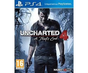 Uncharted 4: A Thief's End sur PS4 (via 50€ sur la carte de fidélité)