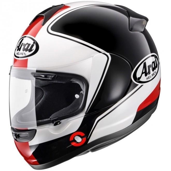 Sélection de casque de moto en promotion - Ex : Arai Axces 2 - noir et rouge, taille S